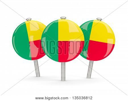 Flag Of Benin, Round Pins