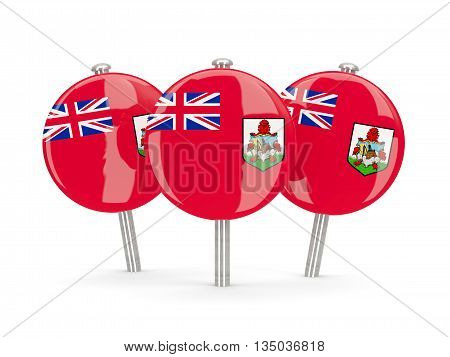 Flag Of Bermuda, Round Pins