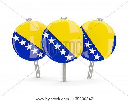 Flag Of Bosnia And Herzegovina, Round Pins
