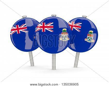 Flag Of Cayman Islands, Round Pins
