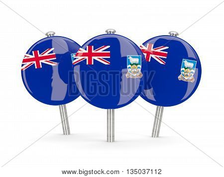 Flag Of Falkland Islands, Round Pins