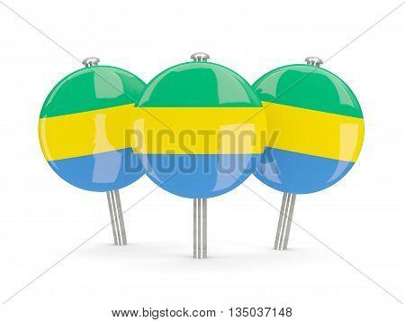 Flag Of Gabon, Round Pins