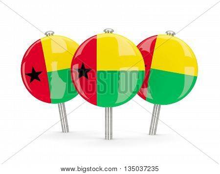 Flag Of Guinea Bissau, Round Pins