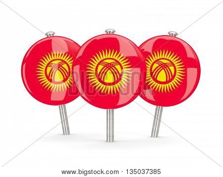 Flag Of Kyrgyzstan, Round Pins