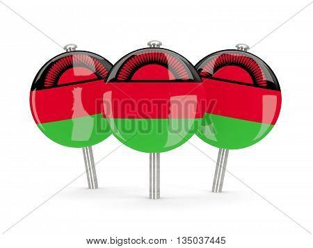 Flag Of Malawi, Round Pins