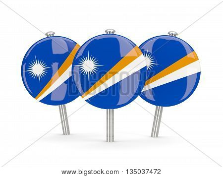 Flag Of Marshall Islands, Round Pins