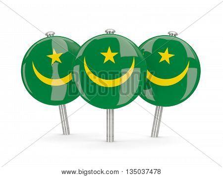 Flag Of Mauritania, Round Pins