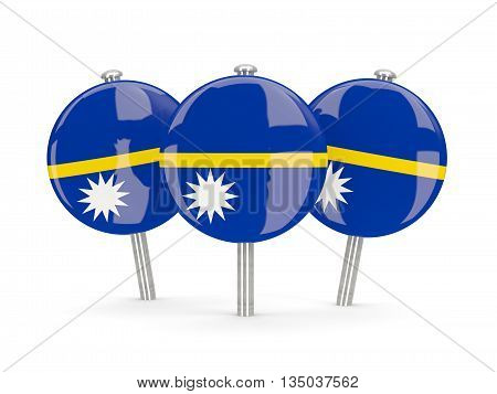 Flag Of Nauru, Round Pins