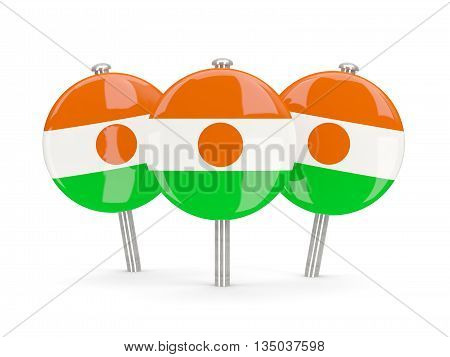 Flag Of Niger, Round Pins