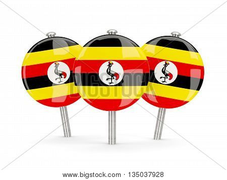 Flag Of Uganda, Round Pins