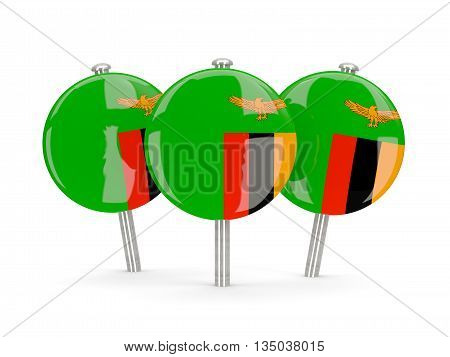 Flag Of Zambia, Round Pins