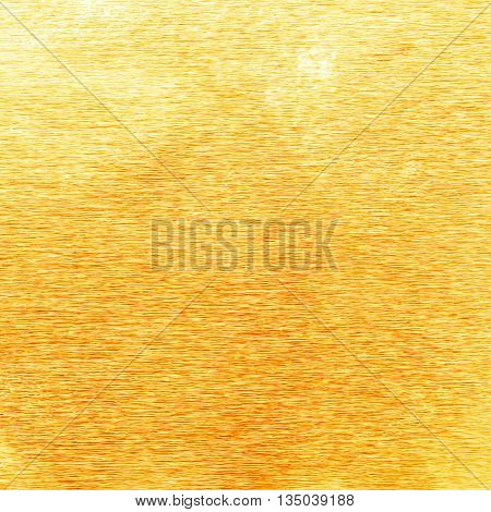 Shiny Yellow Gold Foil Texture For Background. And Shadow