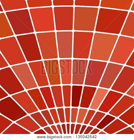abstract vector stained-glass mosaic background - red and orange