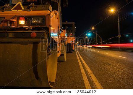 repairing the road