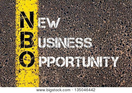 Concept Image Of Business Acronym Nbo