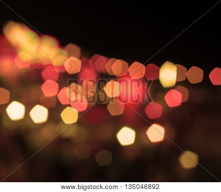 Abstract blurred night lights with vintage filter, stock photo