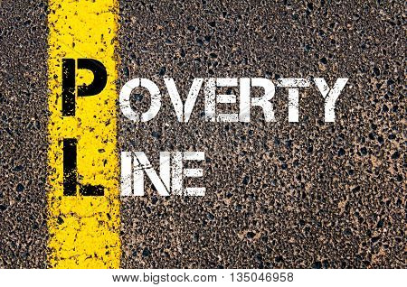 Concept Image Of Business Acronym Pl Poverty Line
