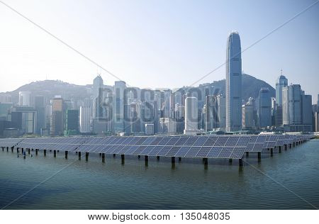 Power plant using renewable solar energy with in Hong Kong
