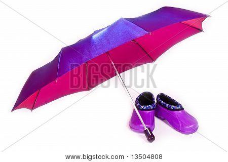 Umbrella And Galoshes