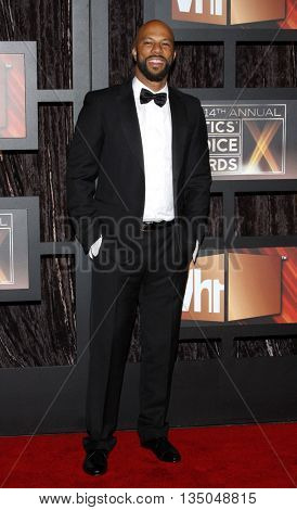 Common at the VH1's 14th Annual Critics' Choice Awards held at the Santa Monica Civic Auditorium in Santa Monica, USA on January 8, 2009.