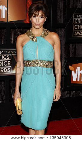 Eva Longoria at the VH1's 14th Annual Critics' Choice Awards held at the Santa Monica Civic Auditorium in Santa Monica, USA on January 8, 2009.