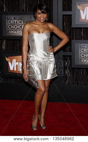 Taraji P. Henson at the VH1's 14th Annual Critics' Choice Awards held at the Santa Monica Civic Auditorium in Santa Monica, USA on January 8, 2009.