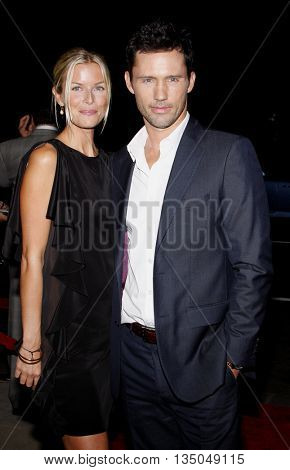 Katherine Kovarik and Jeffrey Donovan at the Los Angeles Premiere of
