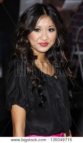 Brenda Song at the Los Angeles Premiere of 'High School Musical 3: Senior Year' held at the Galen Center in Los Angeles, USA on October 16, 2008.
