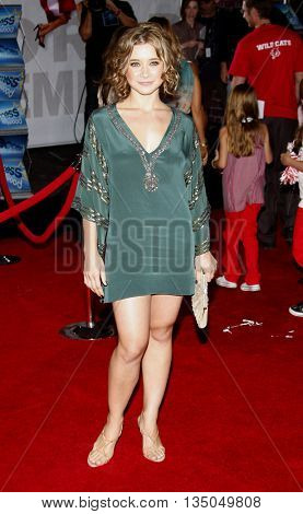 Olesya Rulin at the Los Angeles Premiere of 'High School Musical 3: Senior Year' held at the Galen Center in Los Angeles, USA on October 16, 2008.