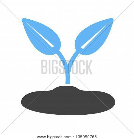 Plant, young, sprout icon vector image. Can also be used for seasons. Suitable for web apps, mobile apps and print media.
