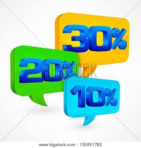 Percentage Speech Bubble