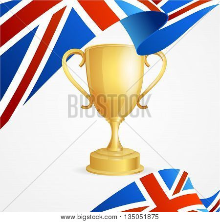 Greate Britain Winning Golden Cup Concept Background. Vector illustration