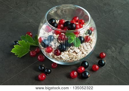 Muesli With Red And Black Currant