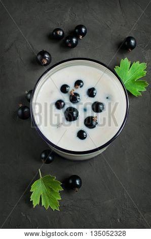 Yogurt With Black Currant