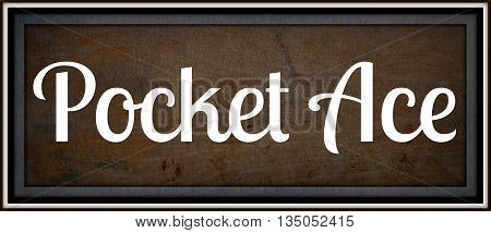 Pocket Ace, a brand logo inspired from the 1920's