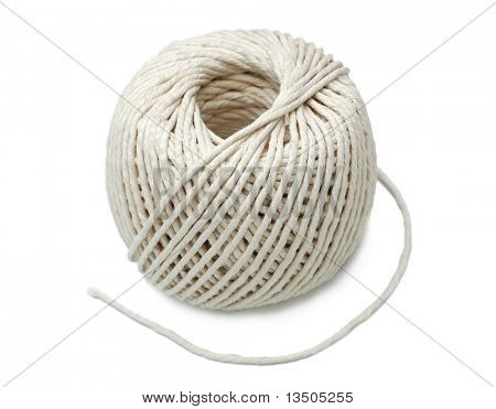 white rope isolated