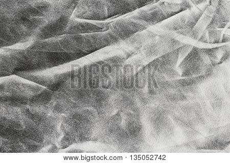 Gray Background Or Texture And Shadow. Fabric Crease