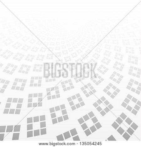 white & grey abstract perspective background. Geometric shapes vector background.