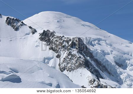Mont Blanc Summit from Aiguille de Midi. France