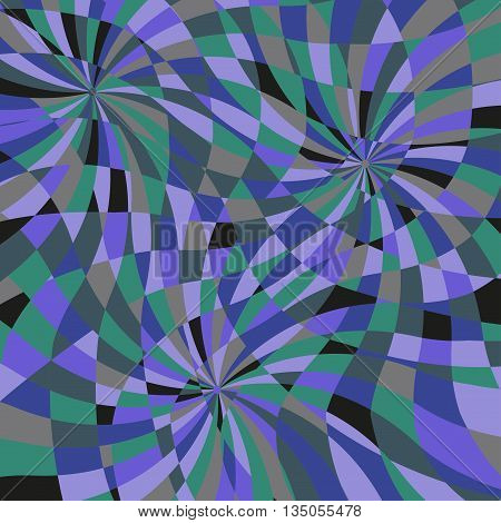 Multicolored mosaic, abstract intersecting spirals, vector illustration