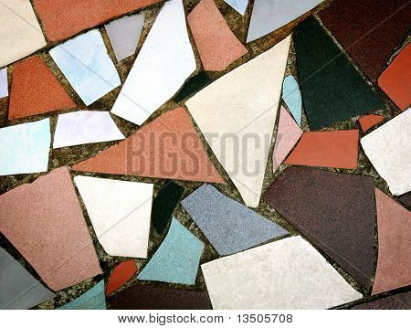 colorful tile floor