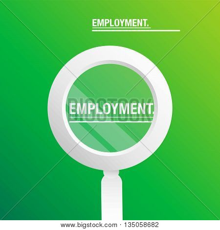 People searching employment green background for business