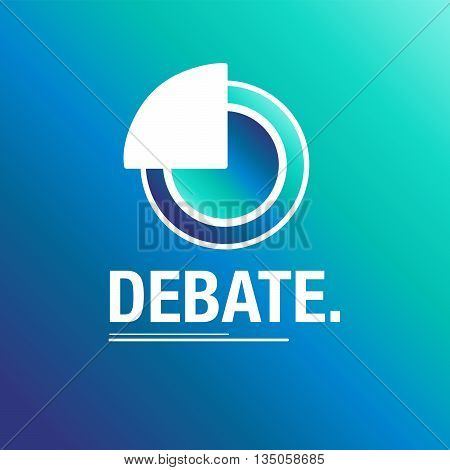 Debate blue background to talk about everything