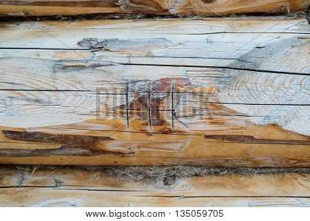 Roman numeral three on wooden background with copyspace