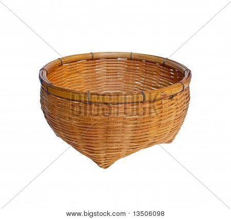 Vintage Brown Wicker Basket