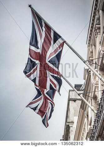 Flag in London, England, The United Kingdom