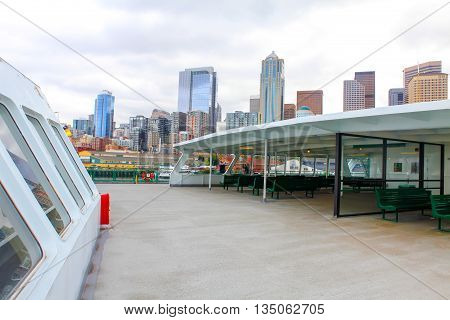 Seattle Waterfront City Skyline
