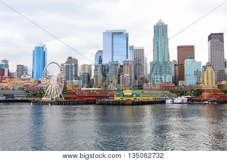 Seattle Ferris Wheel. View Is From The Water
