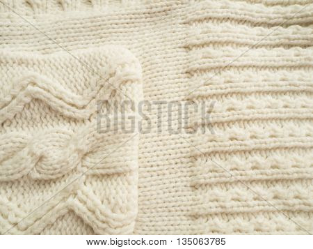 The pattern jumper White color texture fabric