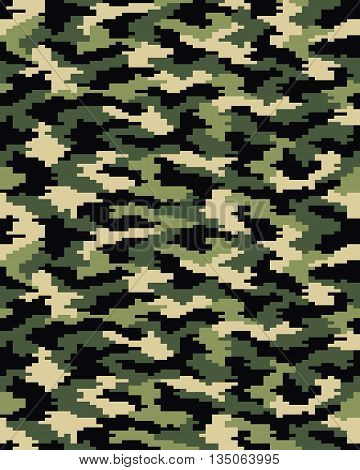 Digital fashion camouflage pattern, seamless vector illustration